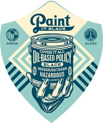 Shepard Fairey - Earth Crisis, Paint it black