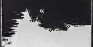 Stefano Frascarelli - Senza titolo (nero e bianco) smalto su plexiglass, cm 120x150
