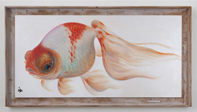 Riusuke Fukahori - Maroboshi, 2015 - Acrylic on canvas, 46 x 84.5 inches