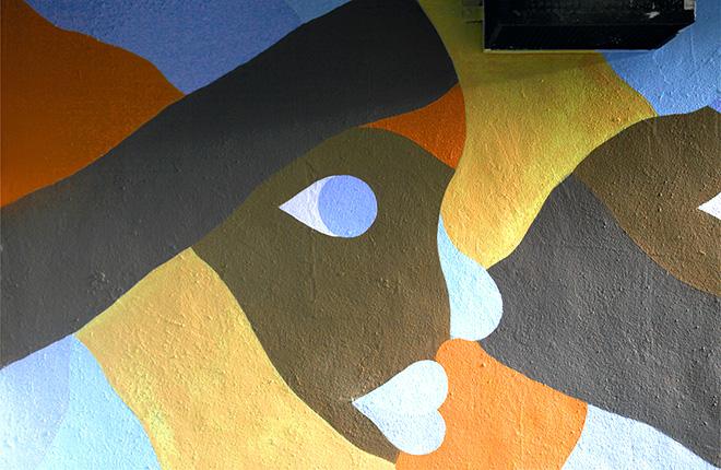 Geometric Bang - Positive Vibrations, sottopasso pedonale Largo Mazzini - Monza