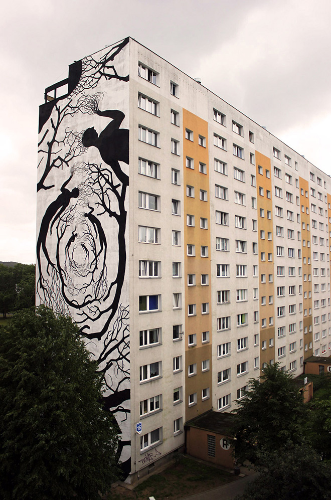 David de la Mano & Pablo Herrero - Schronienie, Zaspa neighborhood, Gdansk (Poland)