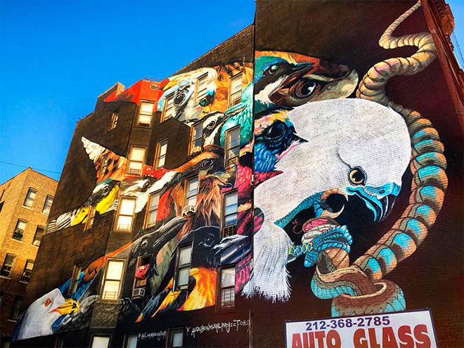 Lunar New Year - Swallow-tailed Kite (and others), The Audubon Mural Project, New York