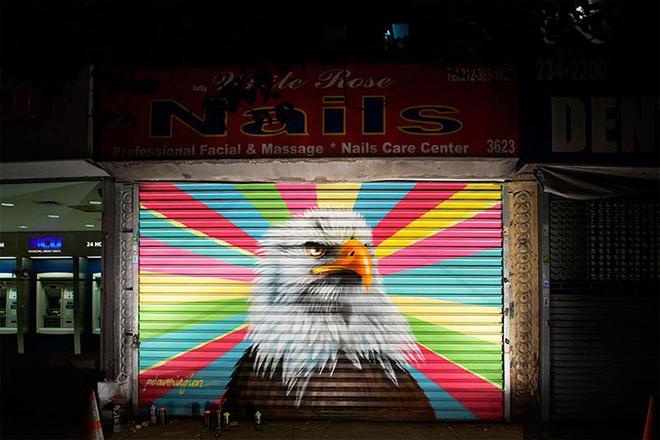 Peter Daverington - Bald Eagle, The Audubon Mural Project, New York