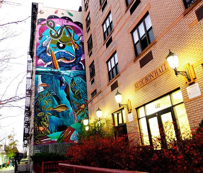 Lena Cruz - Tricolored Heron, The Audubon Mural Project, Manhattan New York