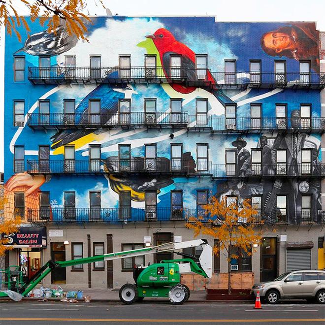 The Audubon Mural Project – New York invasa da volatili
