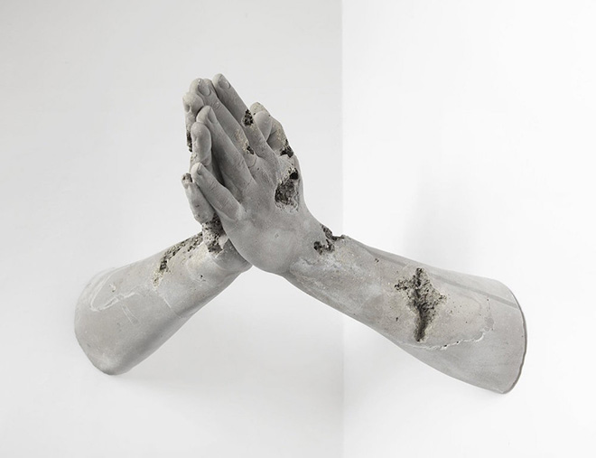 Daniel Arsham - Pyrite Hands in Prayer, 2015