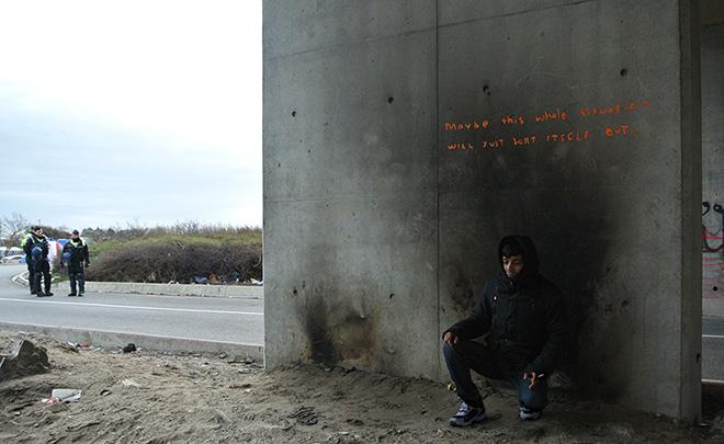 Banksy - The Jungle refugee camp, Calais