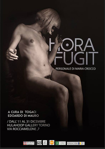 Maria Crocco - Hora fugit, HulaHoop Gallery Torino  sede del Museo d'Arte Urbana