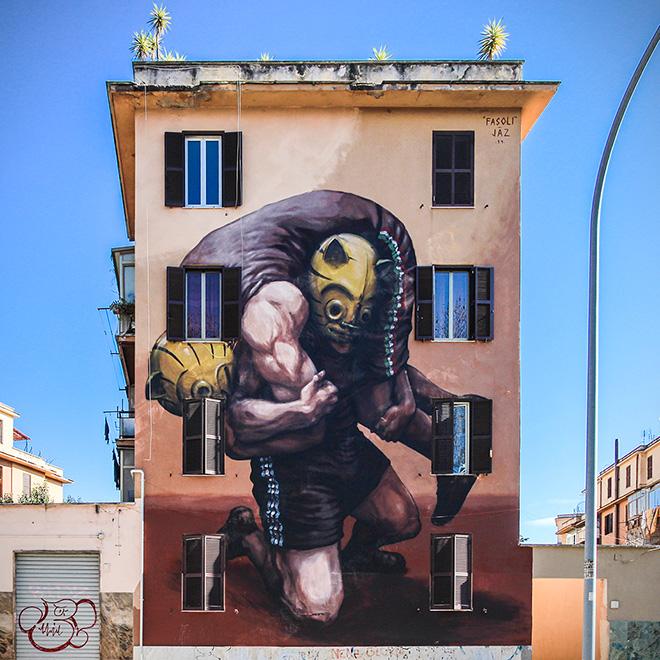 JAZ - Il Peso della Storia, 2014 - Tor Marancia, Roma