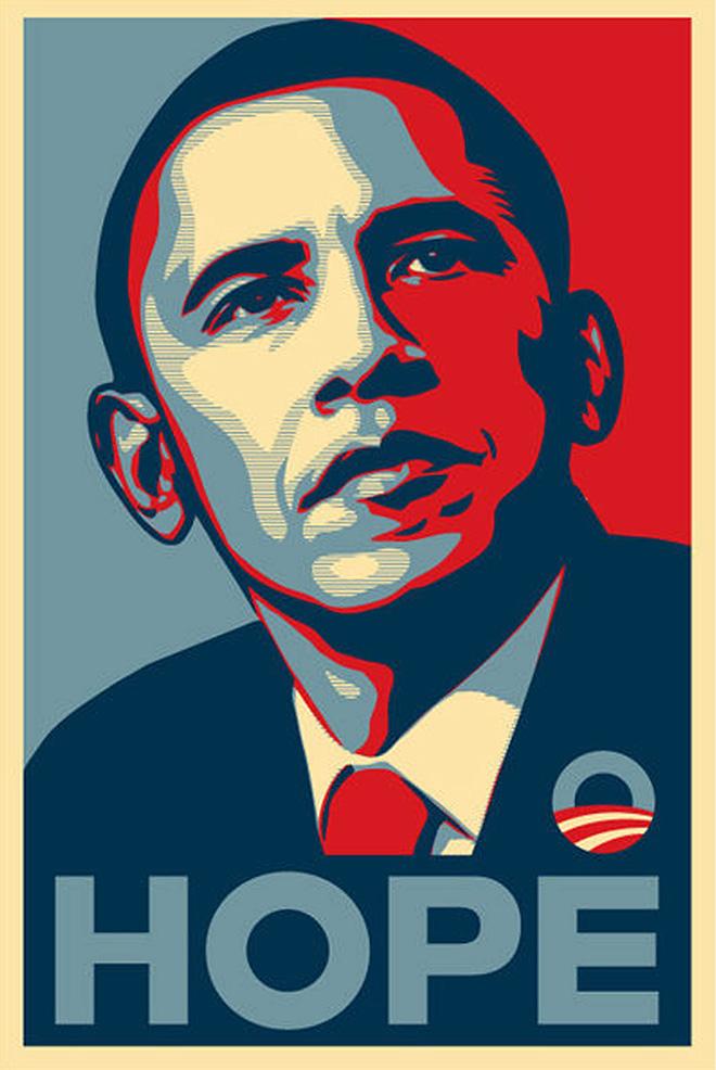 Shepard Fairey - Barack Obama, Hope, 2008