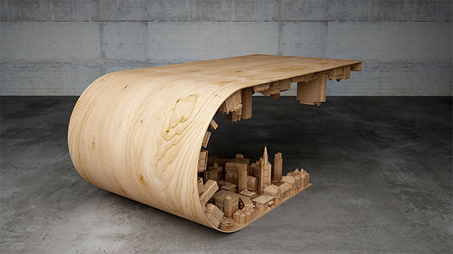 Wave City Coffee Table - Design by Stelios Mousarris