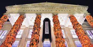 Ai Weiwei - #SafePassage, photo via: Oliver Lang / Konzerthaus Berlin