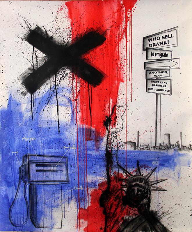 Roberto Giriolo - Who sell drama, acrilico su tela,160x110cm, 2011