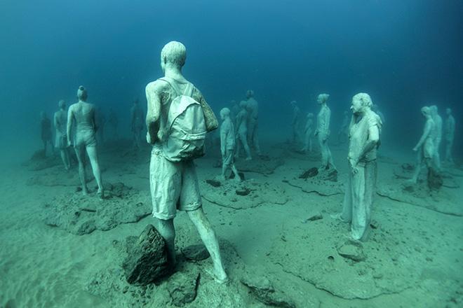 Jason deCaires Taylor - The Rubicon, 14m Museo Atlantico, Lanzarote, Spain