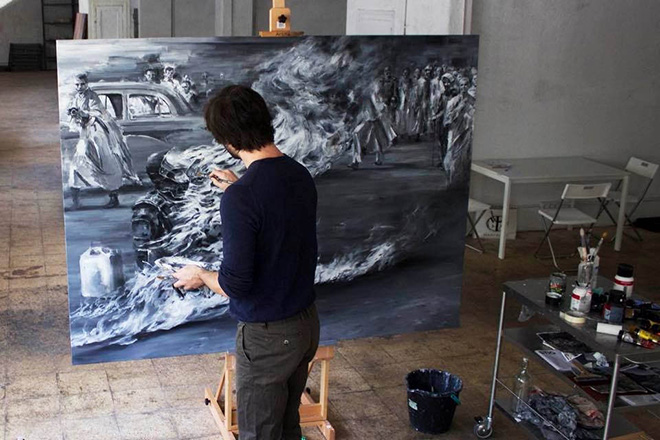 Pejac - Bonzo, 2015 (artist studio)