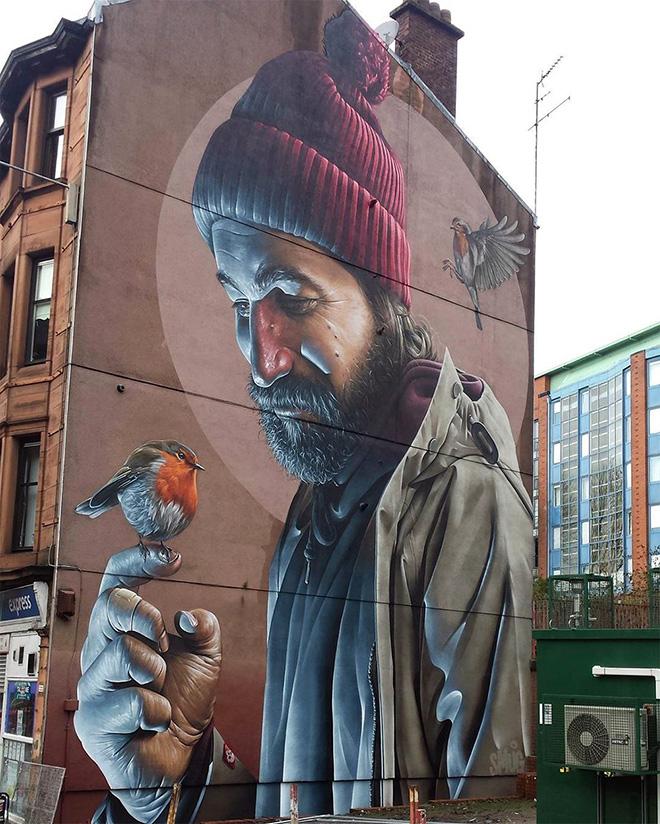 Smug - Photorealistic Mural