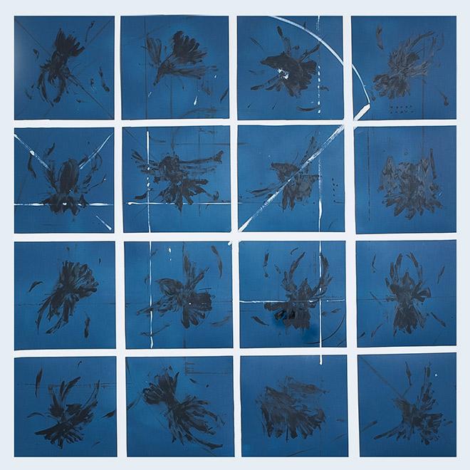 Jerico - Studio di corvi, 30x30, 2016