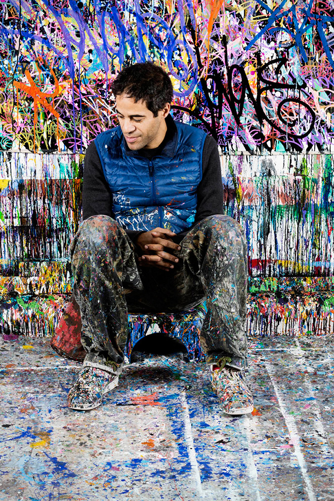 JonOne - Detail of Burn Slow, Acrylic and ink on canvas, 2016