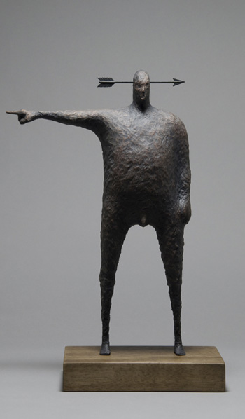 John Morris - That way madness lies, Timber and metal18cm x 36cm