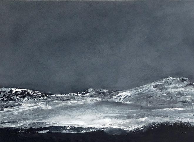 Verena D'Alessandro - Terre silenziose n 1, olio su cartone, cm 21x31, 2015
