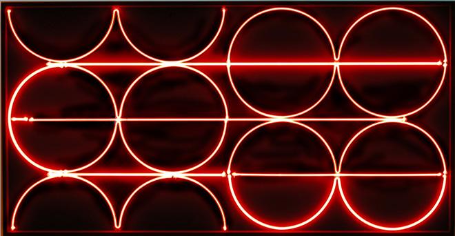 François Morellet - Néon abscon, 1968. Neon su legno, 85 × 165 cm, Collezione François e Danielle Morellet, Cholet