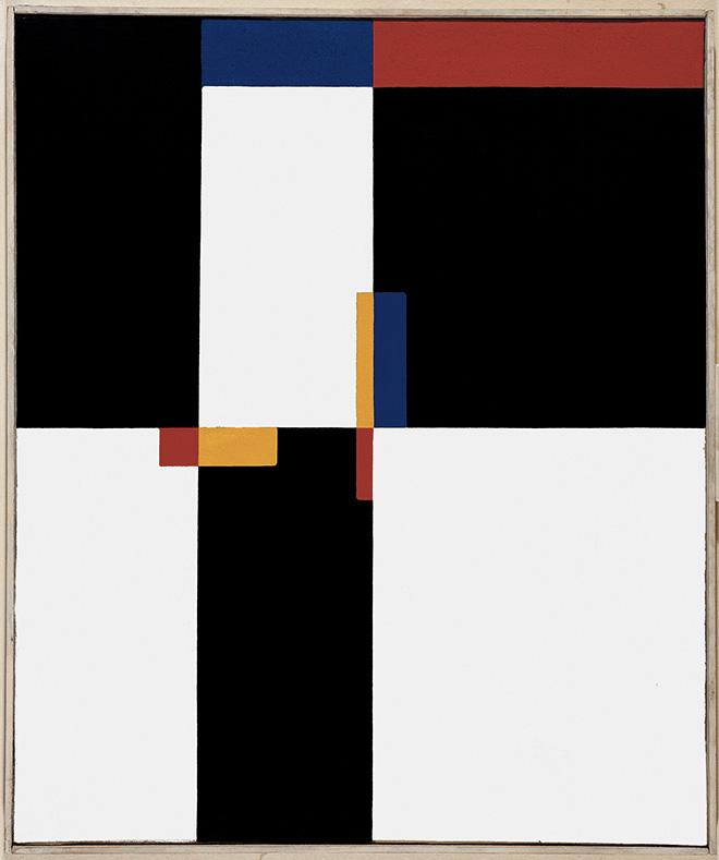 Mario Ballocco - Rapporti spaziali, 1952, Olio su tela, 60 × 50 cm - Archivio Mario Ballocco, Milano