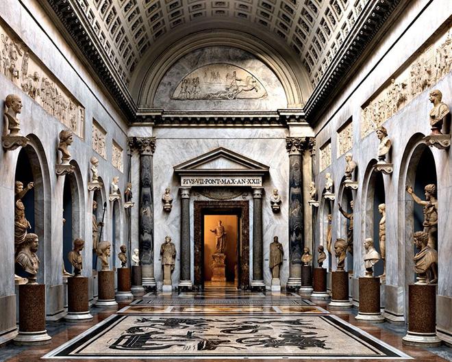Massimo Listri - Musei Vaticani, Braccio Nuovo, 2014