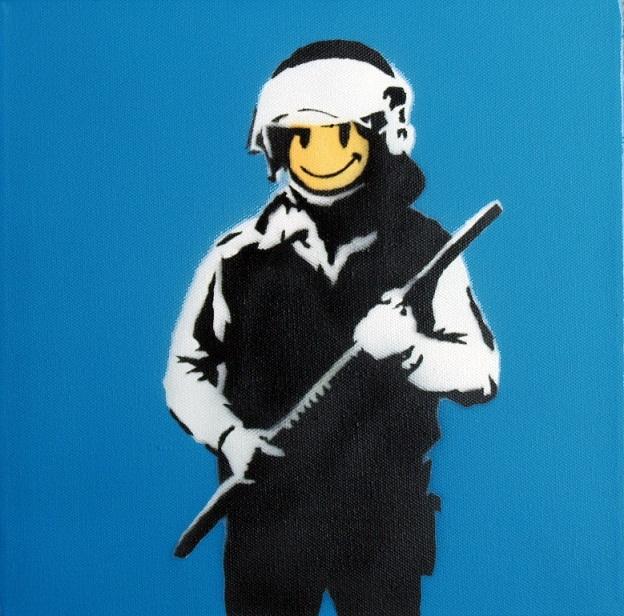 Banksy - Riot Cop, Andipa Gallery