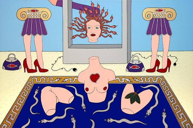 Giampaolo Atzeni - Medusa, Versace, 100x150 cm