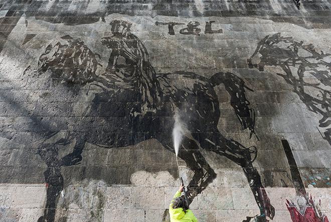 William Kentridge - Triumphs and laments, Rome, 2016. photo credit: © Tevereterno