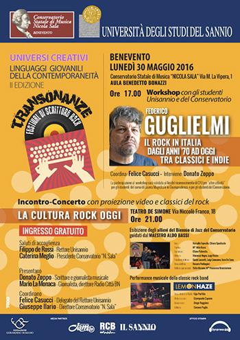 Federico Guglielmi - Transonanze, Festival di Scritture Rock