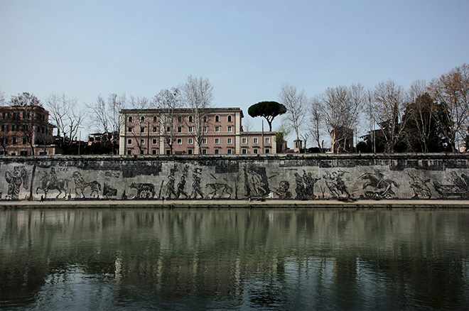 William Kentridge - Triumphs and laments, Rome, 2016. photo credit: © Pecchioli