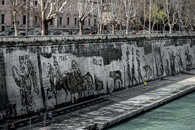 William Kentridge - Triumphs and laments, Rome, 2016. photo credit: © Marinelli