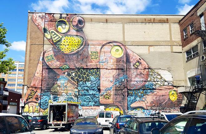 Mural festival 2016 l 39 arte urbana invade montreal for Art mural montreal