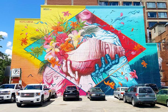 Meggs - Mural Festival 2016, Montreal. photo credit: Fabien Bouchard