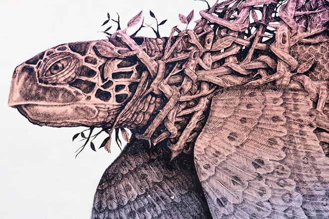 Alexis Diaz - Naturaleza Inconforme (detail), Viavai Project, Casarano, 2014