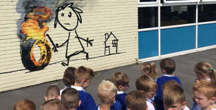 Banksy - Bridge Farm primary school, Bristol