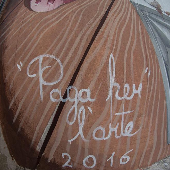 Zed1 - Pay for art (detail), Poggibonsi (Italy), Dots Fest 2016
