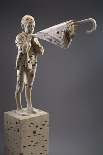Gehard Demetz - I hear the spirits while I whisper, 2007, 166 x 105 x 37,5 cm