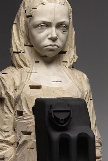 Gehard Demetz - It's Warmer Now, 2011, 172 x 39 x 42 cm