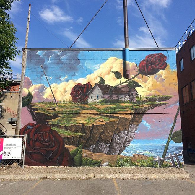 Jonathan Bergeron - Mural Festival 2016, Montreal. photo credit: Andre Bathalon