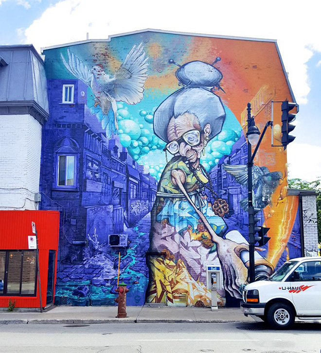 A'shop - Mural Festival 2016, Montreal. photo credit:  Fabien Bouchard