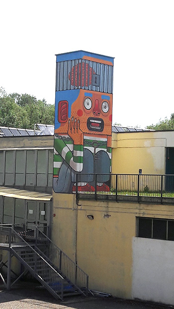 Mr. THOMS - You Got the Key, Street art a Pavia, piscina Folperti