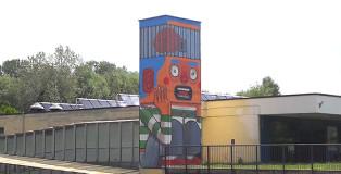 Mr. THOMS - Street art a Pavia, piscina Folperti