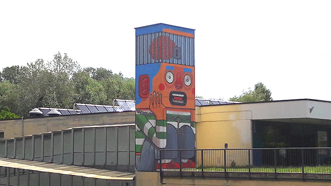Street art a Pavia – Mr. Thoms, Fabio Petani, Angelarts