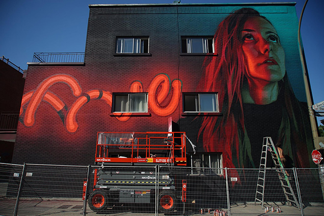 Five Eight - Mural Festival 2016, Montreal. photo credit: Halopigg Urban Art Consulting