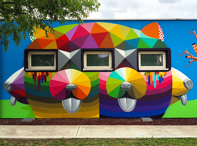 Okuda San Miguel - Spherical Eyes, Arcugnano, Vicenza, Italy, 2016