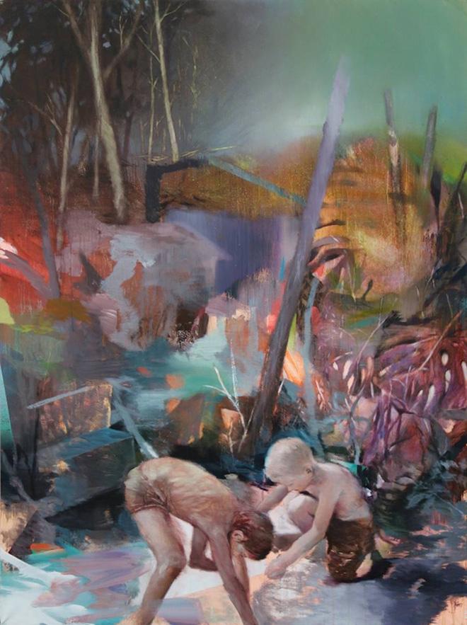 Pascal Vilcollet - 2, La Gardelle Series, acrilico e olio su tela, 200x150 cm