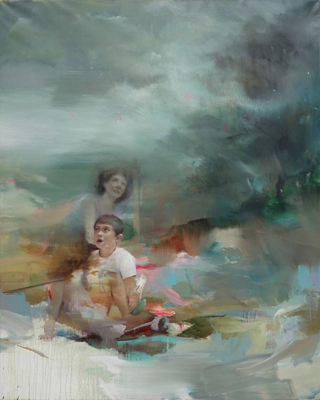 Pascal Vilcollet - 4, La Gardelle series, acrilico e olio su tela, 162x130 cm