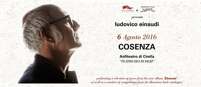 Ludovico Einaudi - Elements Tour, Anfiteatro Cirella